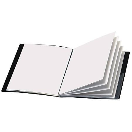 Office Depot® Brand Custom Showfile™ Display Books, 24 Pockets, Black