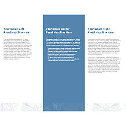 Customizable Trifold Brochure Blue And Green
