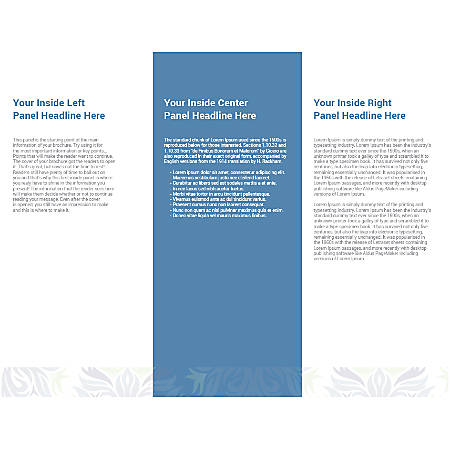 Customizable Trifold Brochure, Blue And Green
