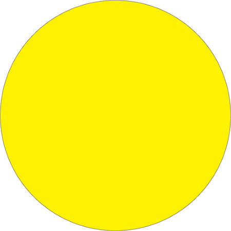 """Tape Logic® Removable Inventory Labels, DL1388FY, Round, 3/4"""", Fluorescent Yellow, Roll Of 500"""