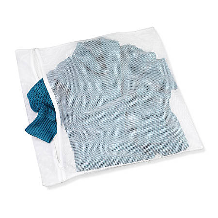"""Honey-Can-Do Sweater Wash Bags, 23"""" x 22"""", White, Pack Of 3"""
