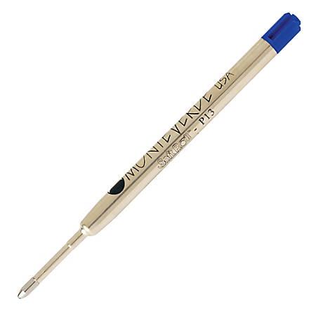 Monteverde® Soft Roll Parker® Style Ballpoint Refills, Medium Point, 0.7 mm, Blue/Black, Pack Of 6