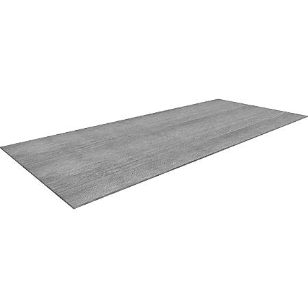 "Lorell Electric Workstation Knife Edge Tabletop - Charcoal Rectangle Top - 60"" Table Top Width x 30"" Table Top Depth x 1"" Table Top Thickness - Assembly Required"