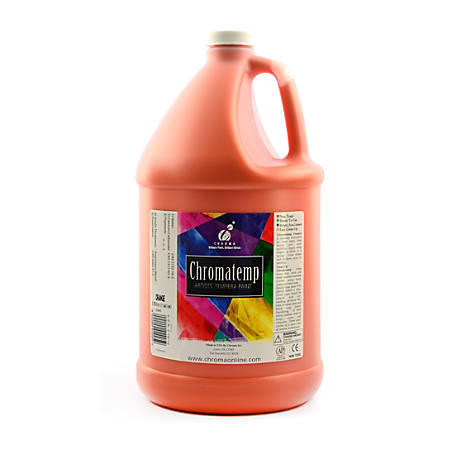 Chroma ChromaTemp Artists' Tempera Paint, 1 Gallon, Orange