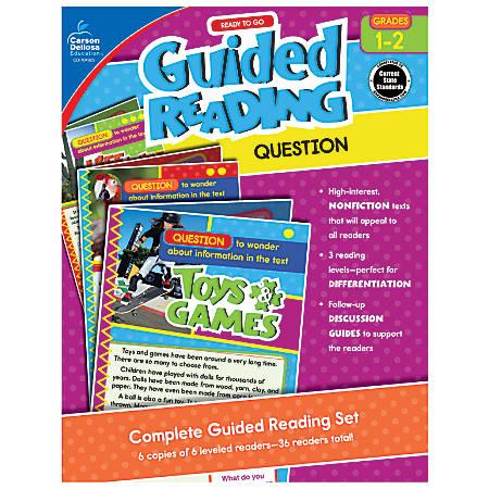 Carson-Dellosa Ready-To-Go Guided Reading, Question, Grades 1 - 2