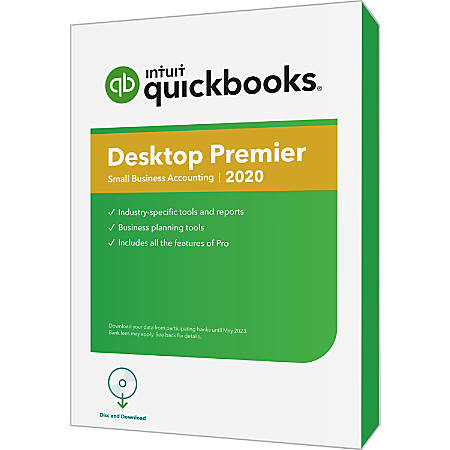 Intuit® QuickBooks® Desktop Premier 2020, Disc & Download