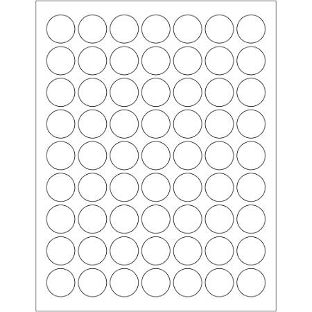 "Office Depot® Brand Removable Circle Laser Labels, LL295, 1"", White, Case Of 6,300"