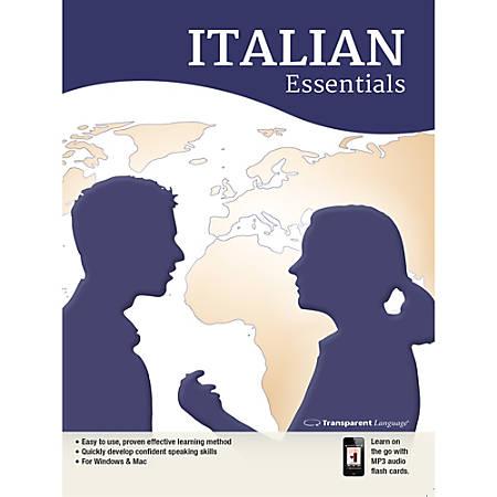 Transparent Language Italian Essentials, Download Version