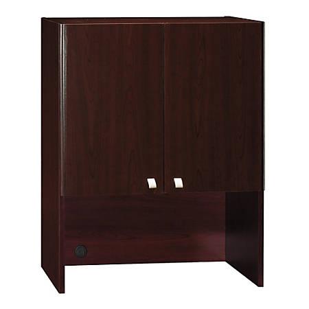 "Bush Business Furniture Quantum Tall Hutch, 30""W, Harvest Cherry, Premium Installation"