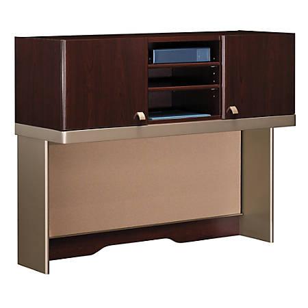 "Bush Business Furniture Quantum Tall Hutch, 48""W, Harvest Cherry, Premium Installation"
