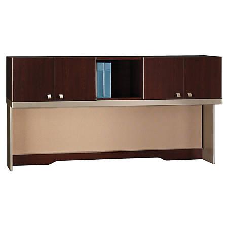 "Bush Business Furniture Quantum Tall Hutch, 72""W, Harvest Cherry, Premium Installation"