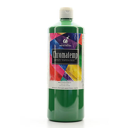 Chroma ChromaTemp Artists' Tempera Paint, 32 Oz, Green