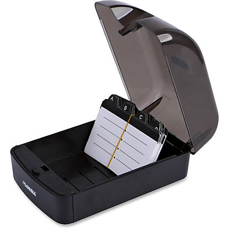 Lorell® Card File, 350 Cards, Black