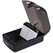 Lorell Card File 350 Cards Black