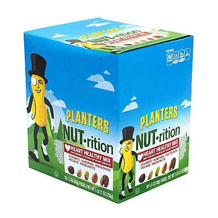 Planters Nut-Rition Heart Healthy Mix, 1.5 Oz, Box Of 18 Packs