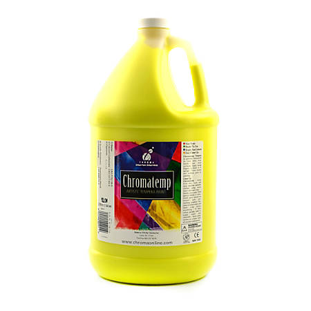 Chroma ChromaTemp Artists' Tempera Paint, 1 Gallon, Yellow