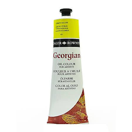 Daler-Rowney Georgian Oil Colors, 7.5 Oz, Lemon Yellow