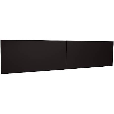 "WorkPro® Modular Flipper Door Kit, For 72"" Stack On Hutch, Black"