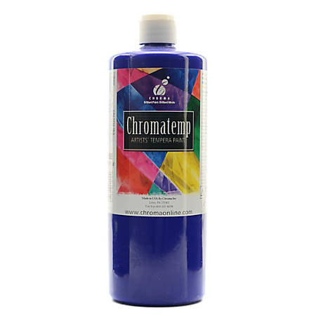 Chroma ChromaTemp Artists' Tempera Paint, 32 Oz, Ultra Blue