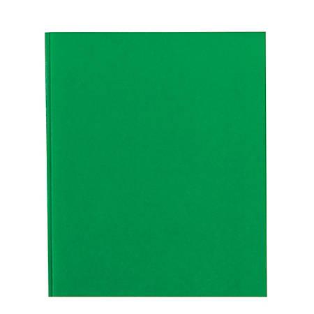 Office Depot® Brand School-Grade 3-Prong Paper Folder, Letter Size, Green