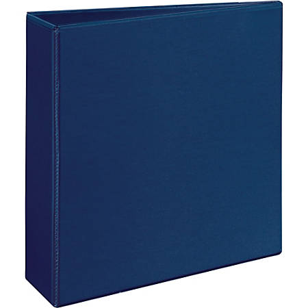"""Avery Durable View Ring Binder - 3"""" Binder Capacity - Letter - 8 1/2"""" x 11"""" Sheet Size - 600 Sheet Capacity - 3 x Slant D-Ring Fastener(s) - 2 Internal Pocket(s) - Poly - Blue - Recycled - 1 Each"""