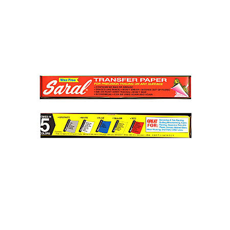 "Saral Transfer Paper, 12 1/2"" x 12' Roll, Yellow"