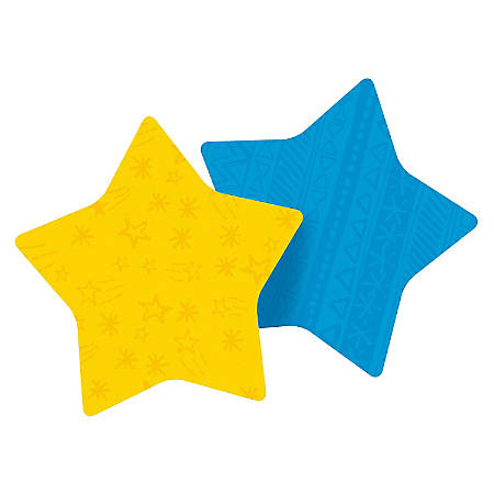 "Post-it® Super Sticky Die-Cut Notes Star, 3"" x 3"", Assorted Colors, Pack Of 2 Pads"