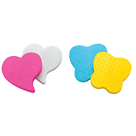 """Post-it® Super Sticky Die-Cut Notes, Heart, 3"""" x 3"""", Neon Pink/Red, 75 Sheets Per Pad, Pack Of 2 Pads"""