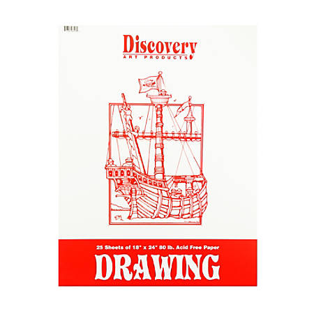 "Discovery Drawing Pads, 18"" x 24"", 25 Sheets, Pack Of 3"