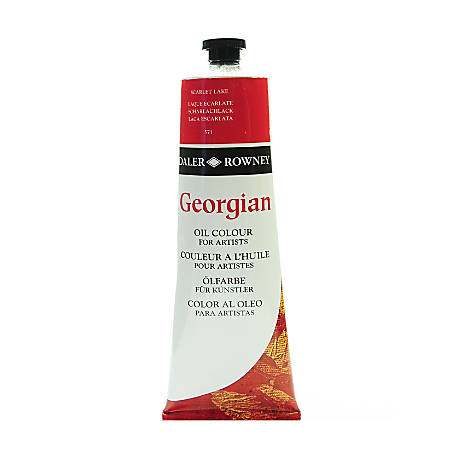 Daler-Rowney Georgian Oil Colors, 7.5 Oz, Scarlet Lake