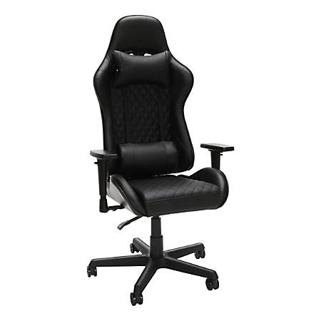 Respawn 100 Racing Style Leather High-Back Gaming Chair, Black