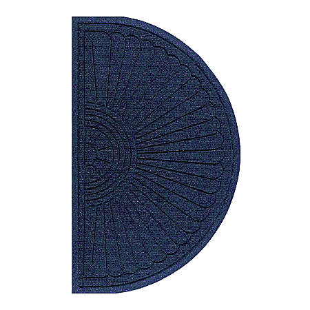 "M + A Matting Waterhog Eco Grand Premier Half-Oval Floor Mat, 72"" x 39 5/8"", Indigo"