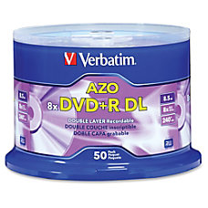 Verbatim DVDR DL Branded Surface Spindle