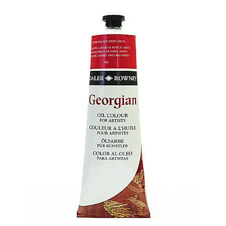 Daler-Rowney Georgian Oil Colors, 7.5 Oz, Cadmium Red Deep Hue