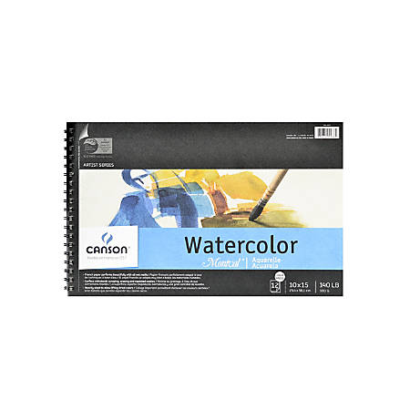 """Canson Montval® Watercolor Paper, 10"""" x 15"""", 12 Sheets"""