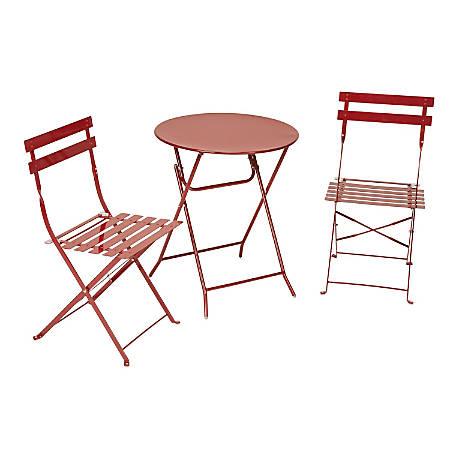 Cosco Bistro-Style 3-Piece Patio Set, Red