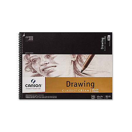 "Canson Classic Cream Drawing Pad, 18"" x 24"", 24 Sheets"