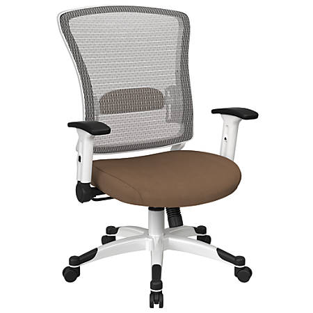Office Star™ Space Seating Mesh Mid-Back Chair, Taupe/White