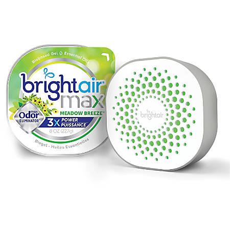 Bright Air Max Scented Gel Odor Eliminator - Gel - 8 oz - Meadow Breeze - 1 Each - Odor Neutralizer, Phthalate-free, Paraben-free, BHT Free, Bio-based, Formaldehyde-free, NPE-free