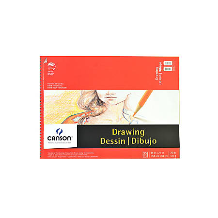 "Canson Foundation Drawing Pads, 18"" x 24"", 30 Sheets, Pack Of 2"