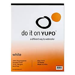 Yupo Watercolor Pad 11 x 14