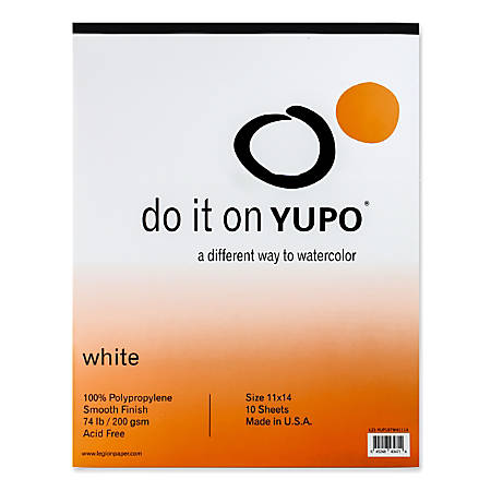 "Yupo Watercolor Pad, 11"" x 14"", 10 Sheets"