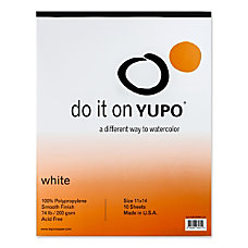 Yupo Watercolor Pad 11 x 14