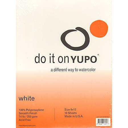 """Yupo Watercolor Pads, 9"""" x 12"""", 10 Sheets, Pack Of 2"""