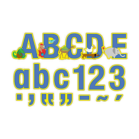 """Barker Creek® Letter Pop-Outs, 4"""", ABC Animals, Set Of 255"""