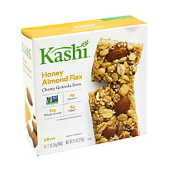 Kashi Honey Almond Flax Chewy Granola Bars, 1.2 Oz, Pack Of 6, Box Of 3 Packs