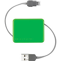 scosche retractable charge sync cable for lightning devices by office depot officemax. Black Bedroom Furniture Sets. Home Design Ideas