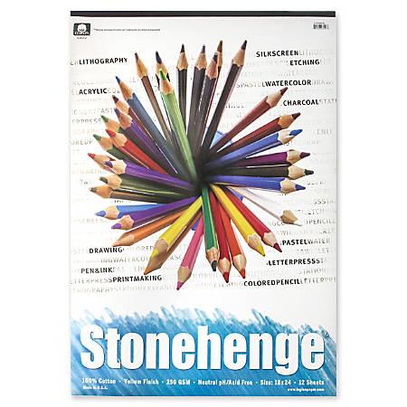 """Rising Stonehenge Drawing Pad, 18"""" x 24"""", 12 Sheets"""