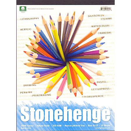 """Rising Stonehenge Drawing Pad, 9"""" x 12"""", 15 Sheets"""