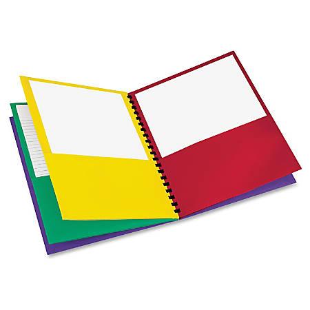 "Oxford™ 8-Pocket Paper Folder, 8 1/2"" x 11"", Assorted Colors"